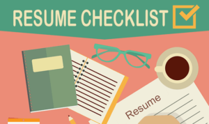 Checklist about what to include in a CV